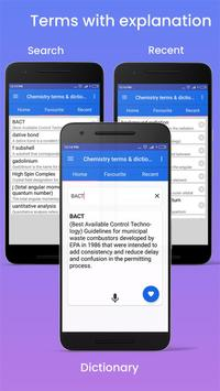 Chemistry dictionary and terms screenshot 1