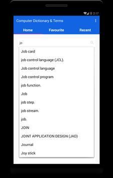Computer dictionary and terms screenshot 2