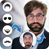 Men hair and bear style photo editor icon
