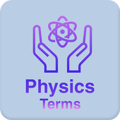 Physics dictionary and terms icon