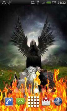 Angel of Death Fire Flames LWP apk screenshot