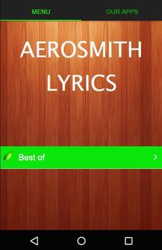 Aerosmith Best Lyrics apk screenshot
