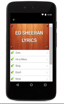 Ed Sheeran Music Lyrics for Android - APK Download