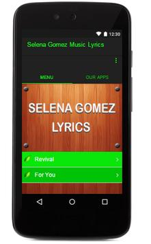 Selena Gomez Music Lyrics poster