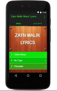 Zayn Malik Music Lyrics poster
