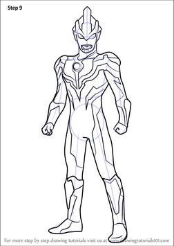 How To Draw Ultraman Tiga Apk Download Free Art Design App For Coloring Pages Ultraman