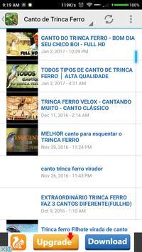 Canto de Trinca Ferro New apk screenshot