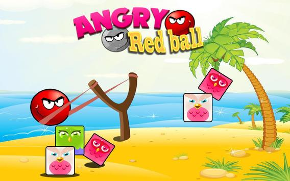 Angry Red Ball poster