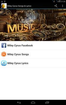 Miley Cyrus Songs & Lyrics poster