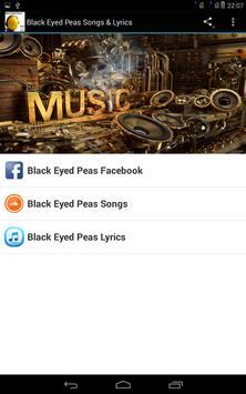 Black Eyed Peas Songs & Lyrics poster