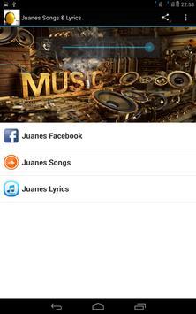 Juanes Songs & Lyrics poster