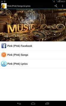 Pink (P!nk) Songs & Lyrics poster