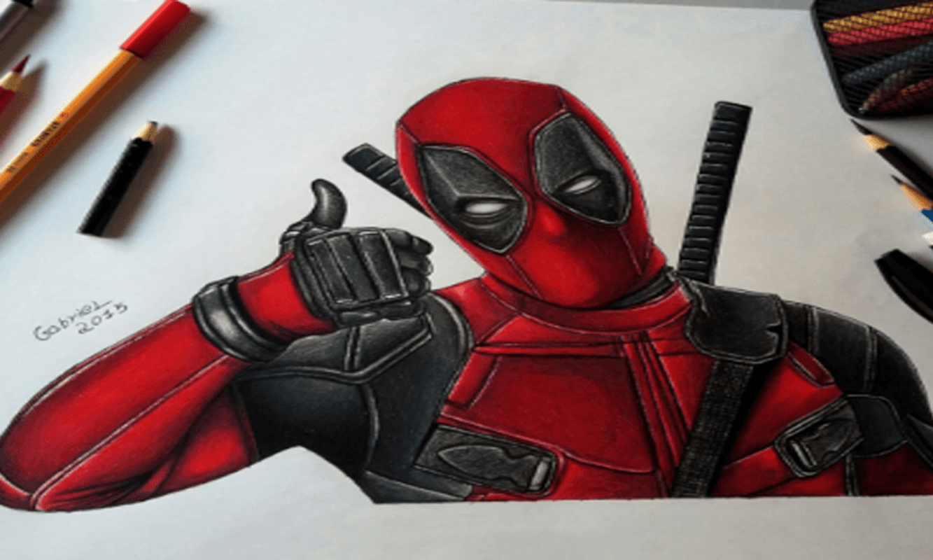 How to draw deadpool poster