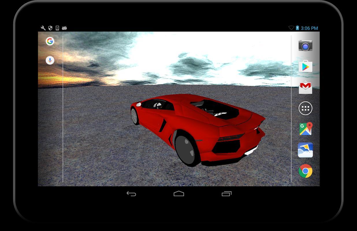 3D Lamborghini Live Wallpaper Apk Screenshot