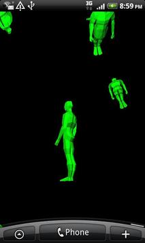 3D Green Men Falling screenshot 1