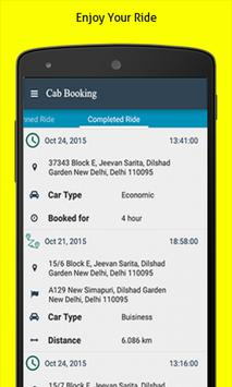 Online Cab Booking App India apk screenshot