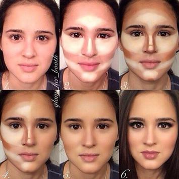 DIY makeup contouring tutorial poster