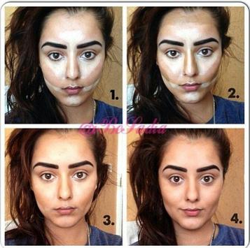 DIY makeup contouring tutorial screenshot 3