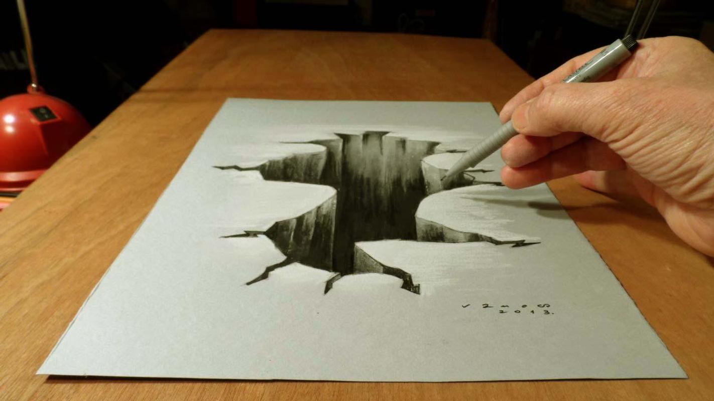 Top 3d pencil drawing poster