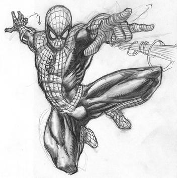 how to draw spiderman poster