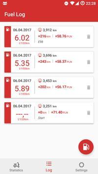 Motorcycle Fuel Log - Mileage tracker screenshot 2