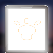Front screen flashlight icon