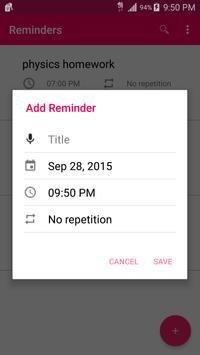 Reminders screenshot 1
