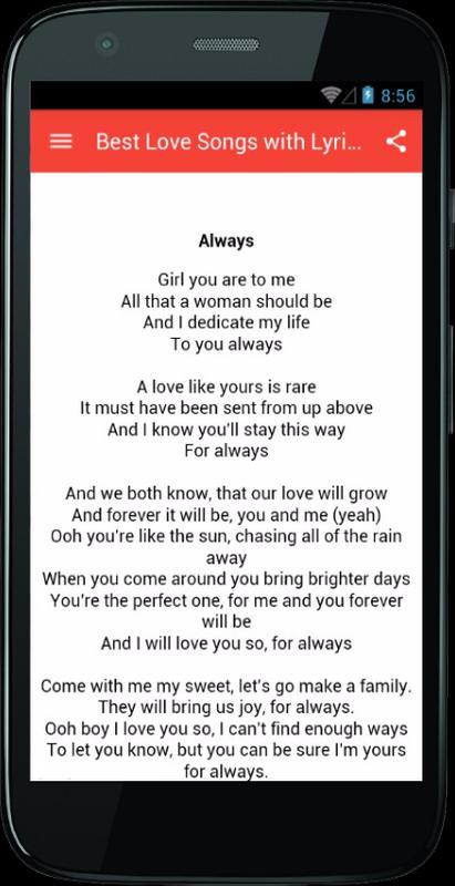 best of love lyrics