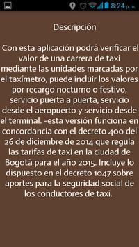 Tarifa Taxi Bogotá screenshot 4