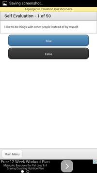 Asperger's Screening / Evaluation / Test apk screenshot