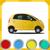Coloring pages cars icon