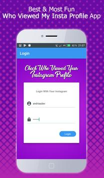 Who viewed my profile instagram – Visitors Tracker poster
