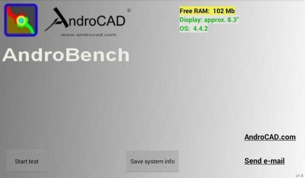 AndroCAD: AndroBench apk screenshot