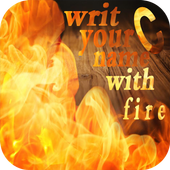 writ your name with fire free icon