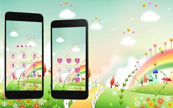 Applock Theme rainbow 2 poster