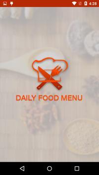Daily Food Menu poster