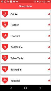 SpotzInfo:One Place for Sports apk screenshot
