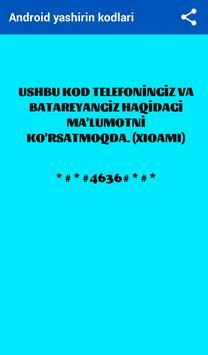 Telefon Maxfiy Kodlari screenshot 4