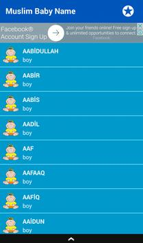 Muslim Baby Name and Meaning (+20.000) screenshot 1