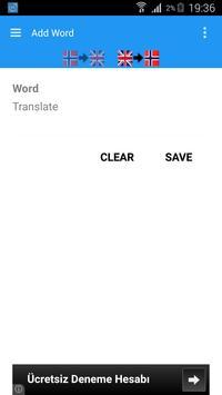English Norwegian Dictionary apk screenshot
