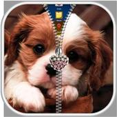 Puppy Dog Zipper Lock Screen icon