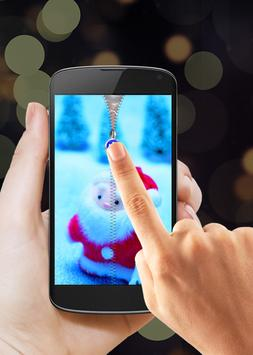 Santa Claus Zipper Lock apk screenshot