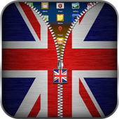 UK Flag Zipper Lock icon