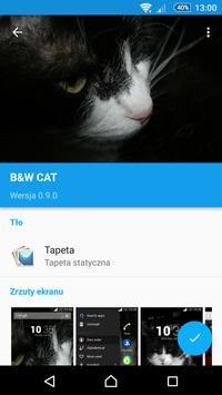 Black&White Cat XpTheme apk screenshot
