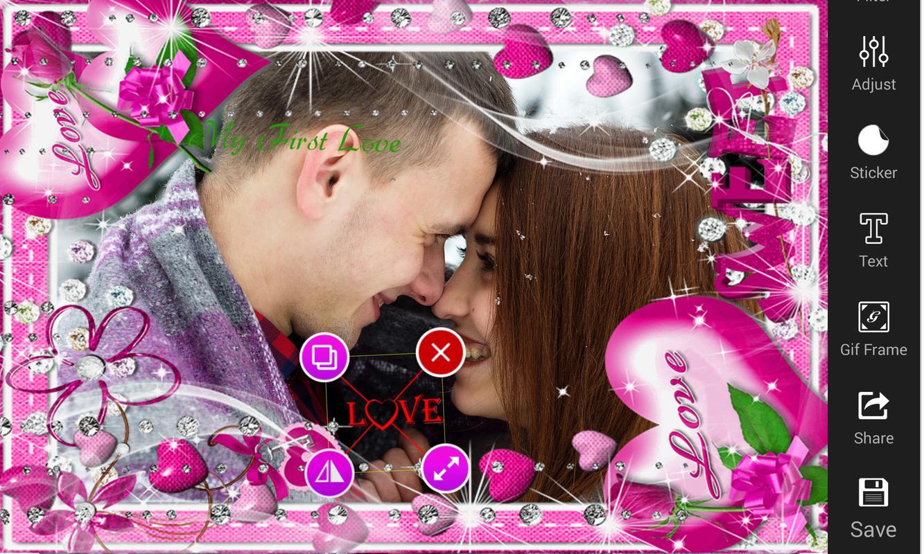 Liebes-romantischer GIF-Foto-Rahmen-Herausgeber APK-Download ...