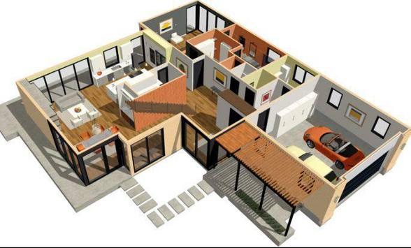 Create Floor Plan 3D poster