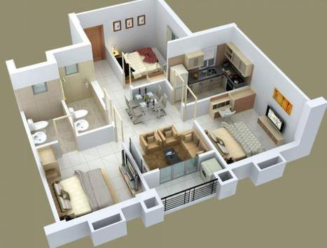 Home Layout 3D poster