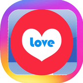 love caption ig and quote icon