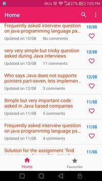 Java Daily - Upgrade Your Java Skills Everyday apk screenshot