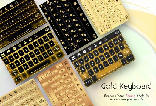 Gold Keyboard poster